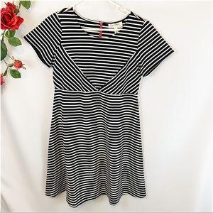 Jessica Simpson Maternity Black Striped Dress